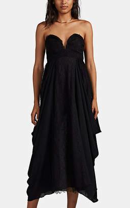 HIRAETH Women's Alma Lace & Crepe Strapless Dress - Black