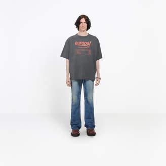 Balenciaga Cotton T-shirt with front 'Europa!' print