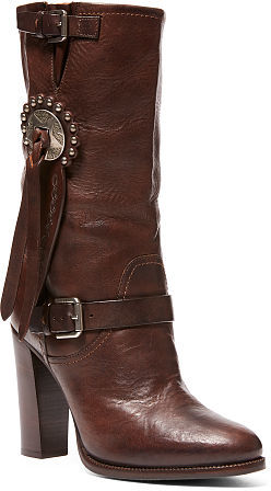 Ralph Lauren Concho Vachetta Leather Boot