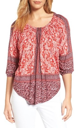 Women's Lucky Brand Jersey Peasant Top $59.50 thestylecure.com