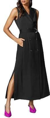 Karen Millen Belted Tuxedo Maxi Dress