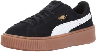 Puma Girl's Suede Platform SNK Jr Sneakers, Black White