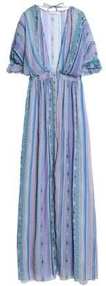 Matthew Williamson Ruffle-Trimmed Printed Silk-Chiffon Maxi Dress