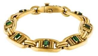 Kieselstein-Cord 18K Tourmaline Link Bracelet