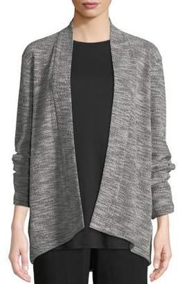 Eileen Fisher Jacquard Knit Short Eco Cotton Kimono Jacket, Plus Size