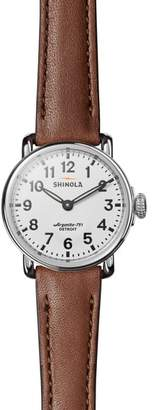 Shinola The Runwell Leather Strap Watch, 28mm