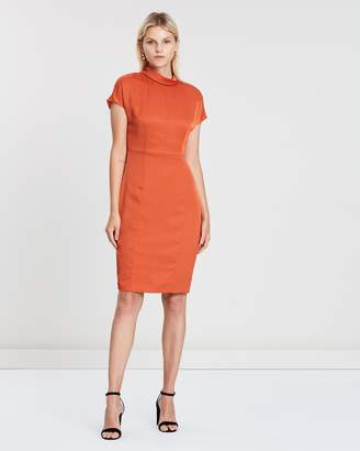 a060227daba83 Reiss Short Sleeve Funnel Neck Day Dress