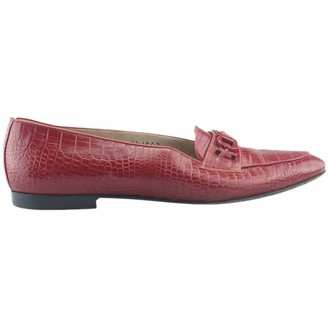 Salvatore Ferragamo Red Exotic leather Heels
