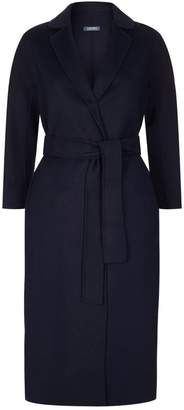 Max Mara Double Face Wool-Angora Long Wrap Coat