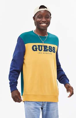 GUESS Roy Colorblock Crew Neck Sweatshirt