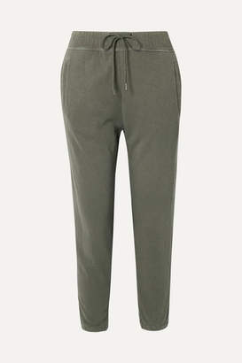 James Perse Supima Cotton-jersey Track Pants - Army green