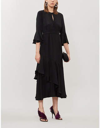 Erdem Florence ruffled silk midi dress