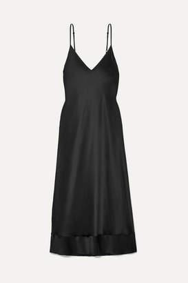 Lee Mathews - Rose Silk-satin Midi Dress - Black
