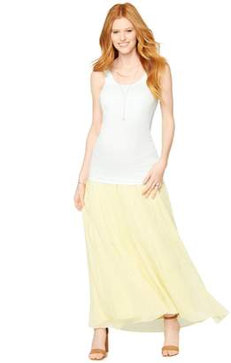 A Pea in the Pod Secret Fit Belly Chiffon Maternity Maxi Skirt