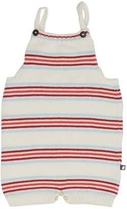 Oeuf Striped Intarsia Cotton Romper