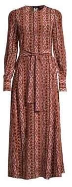 Lafayette 148 New York Coleen Long Sleeve Tie-Front Dress