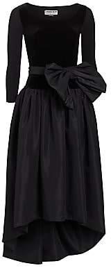 Chiara Boni Women's Doha Velvet & Taffeta Fit-&-Flare Dress