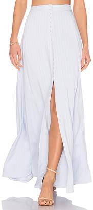 MAJORELLE x REVOLVE Sangria Maxi Skirt in Blue $148 thestylecure.com