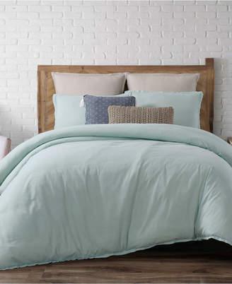 Pem America Brooklyn Loom Chambray Loft King 3 Piece Comforter Set Bedding