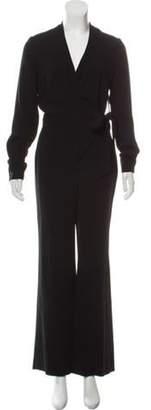 Diane von Furstenberg Long Sleeve Wrap Jumpsuit w/ Tags Black Long Sleeve Wrap Jumpsuit w/ Tags