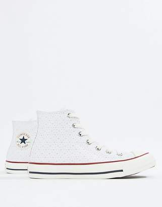Converse (コンバース) - Converse Hi Chuck Taylor Perf Star Sneakers In White