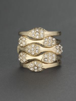 City Bright Glittering Stackable Five-Ring Set