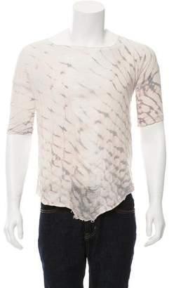 Raquel Allegra Distressed Tie-Dye T-Shirt w/ Tags