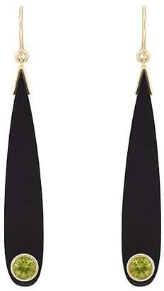 Mark Davis Women's Bakelite & Peridot Drop Earrings - Black