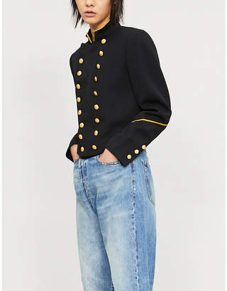 Polo Ralph Lauren Mandarin-collar wool-twill jacket