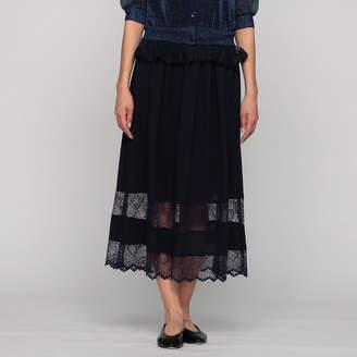 Muveil (ミュベール) - ミュベール レース切り替えスカート