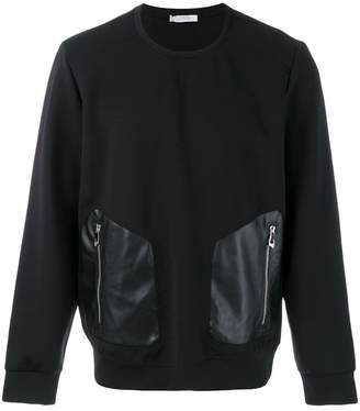 Versace zipped contrast pocket hoodie
