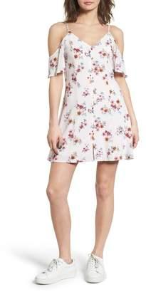 Dee Elly Button Front Cold Shoulder Dress