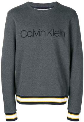 Calvin Klein striped trim sweatshirt