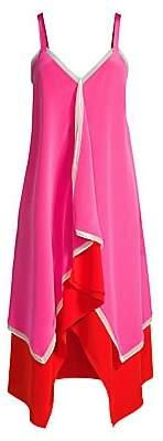 Diane von Furstenberg Women's Wren Silk Handkerchief Slip Dress