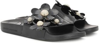 Marc Jacobs Flower-embellished slide sandals