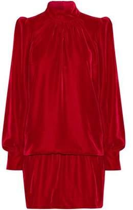 Marc Jacobs Gathered Velvet Mini Dress