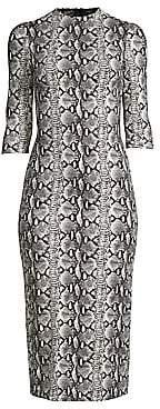 Alice + Olivia Women's Delora Fitted Mockneck Dress - Size 0