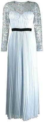 Self-Portrait pleated evening dress