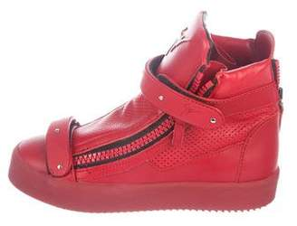 Giuseppe Zanotti Perforated Wedge Sneakers