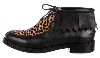 Rachel Comey Leather Ponyhair-Accented Boots