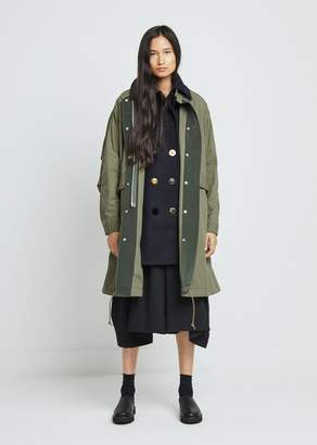 Sacai Cotton Nylon Oxford Coat