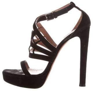 Alaia Ankle Strap Platform Sandals