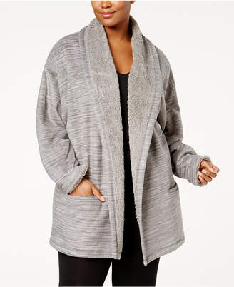Hue Plus Size Cozy Open-Front Robe