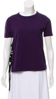 Marni Tie-Accented Short Sleeve T-Shirt