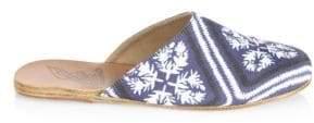 Ancient Greek Sandals Bandana-Print Flat Mules
