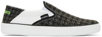 Vetements Black and Grey Babouche Sneakers
