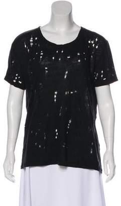 IRO Distressed Linen T-Shirt