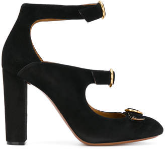 Chloé triple buckle Mary-Jane pumps