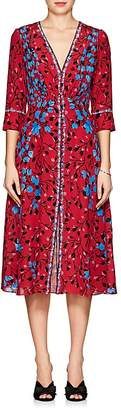 Saloni Women's Eve Floral Silk Midi-Dress