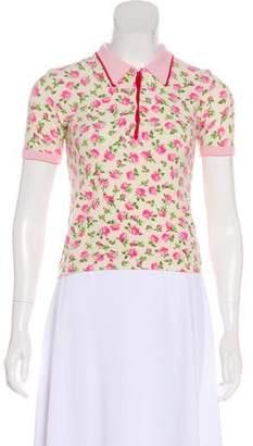 Blumarine Floral Short Sleeve Top